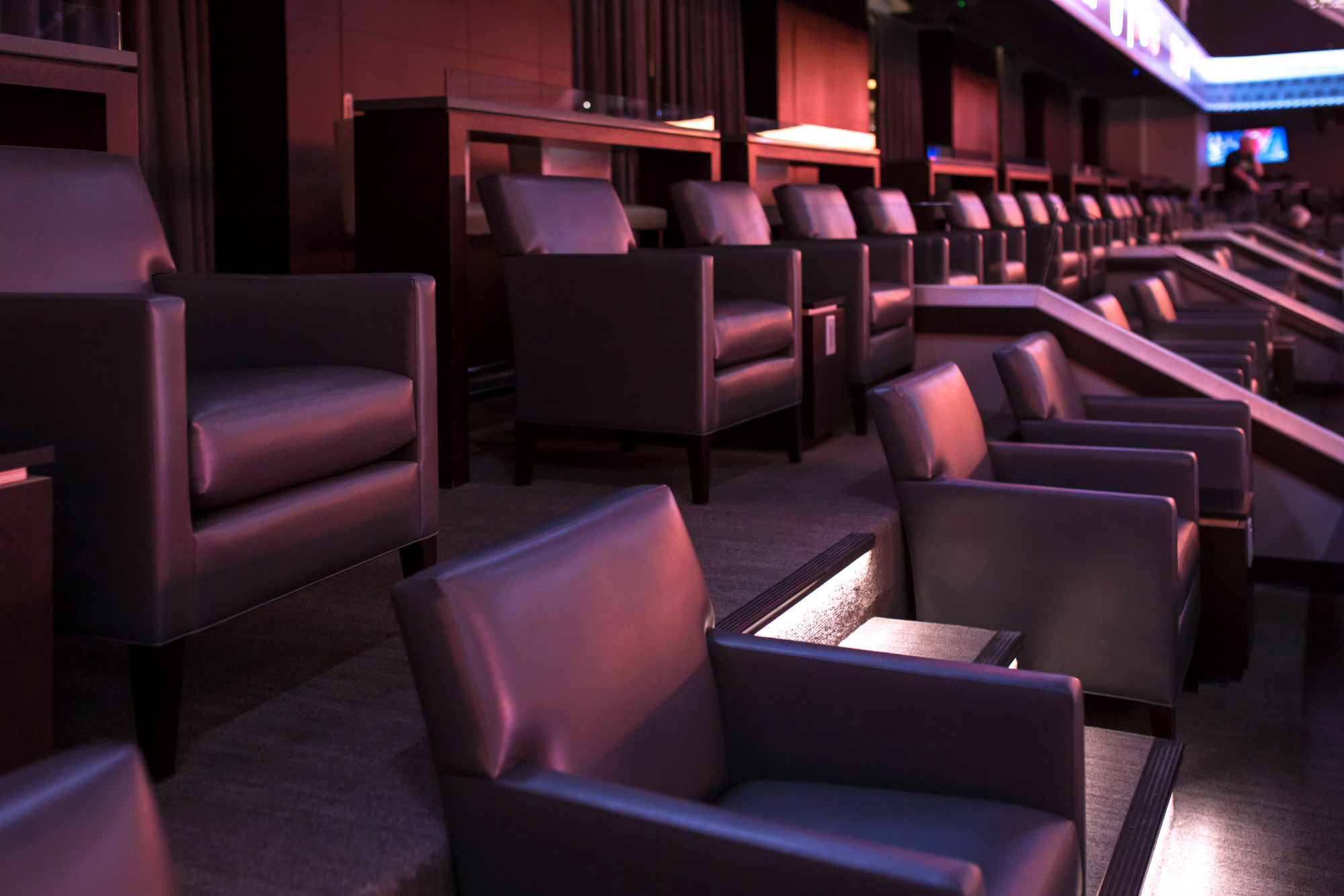 Theater box seating